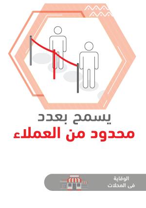ملصقات السلامة لكورونا - محلات تجارية 2B